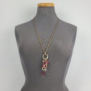Lia Sophia Gold & Purple Beaded Long Necklace